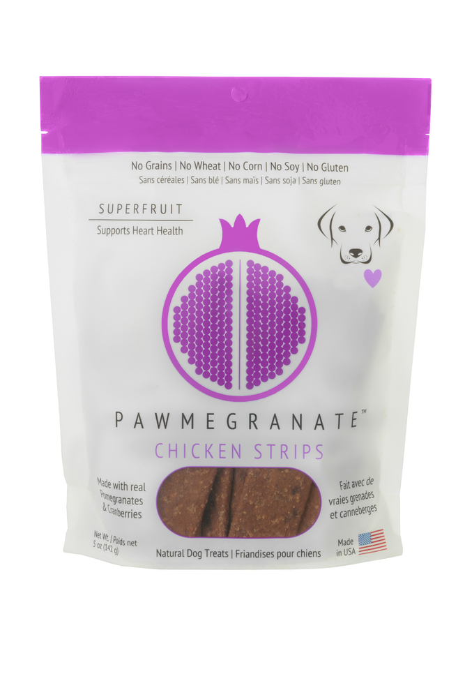 Pawmegranate Chicken Strips: Case of 6