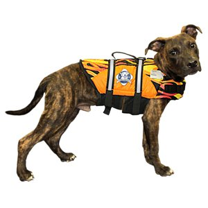 Paws Aboard Racing flames Pet Life Jacket: Small