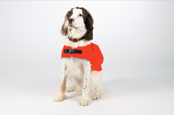 Mendota Pet Canine Field Jacket: Orange with Reflective, XL