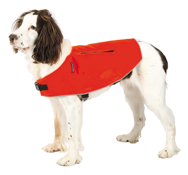 Mendota Pet Canine Field Jacket: Orange with Reflective, Small