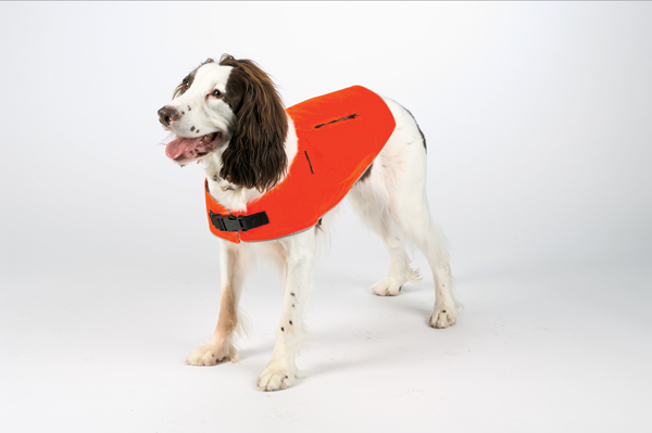 Mendota Pet Canine Field Jacket: Orange with Reflective, Large
