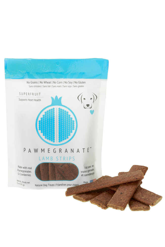 Pawmegranate Lamb Strips: Case of 6