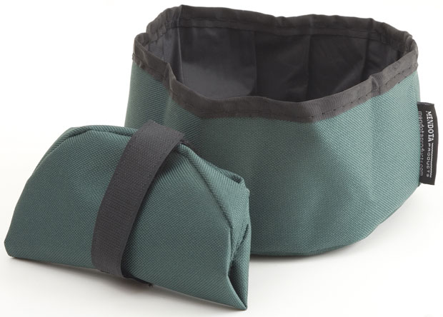 Mendota Pet Collapsible Water Bowl: Green