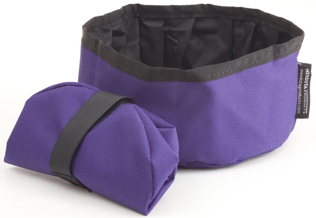 Mendota Pet Collapsible Water Bowl: Purple