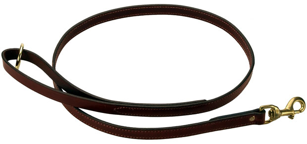 "Mendota Pet Flat Snap Leash: Chestnut, 3/4"" x 4'"