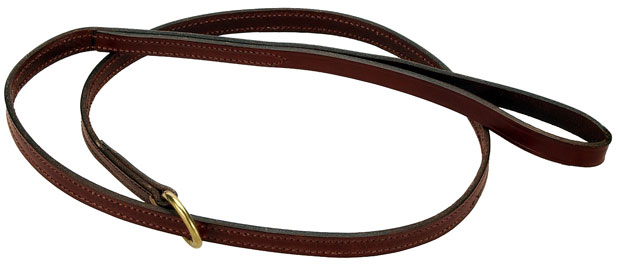 "Mendota Pet Flat Slip Lead: Chestnut, 5/8"" x 6'"