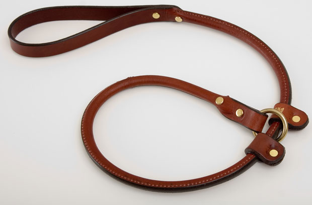 "Mendota Pet Rolled Handler Slip Lead: Chestnut, 3/4"" x 3'"