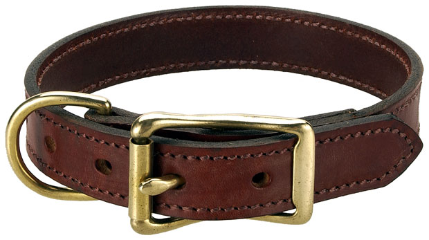 "Mendota Pet Wide Standard Collar: Chestnut, 1"" x 24"""