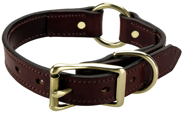 "Mendota Wide Hunt Collar: Chestnut, 1"" x 14"""