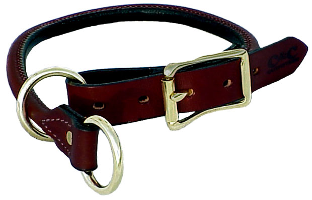"Mendota Pet Training Collar: Chestnut, 1"" x 16"""