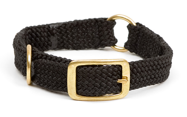 "Mendota Pet Center Ring Collar: Black, 1""W Up to 18"""