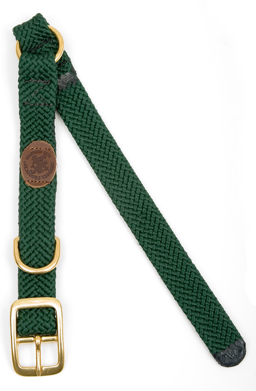 "Mendota Pet Center Ring Collar: Hunter Green, 1""W Up to 18"""