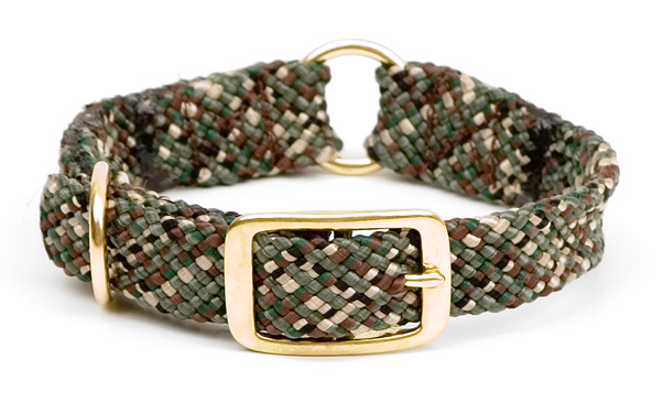 "Mendota Pet Center Ring Collar: Camo, 1""W Up to 18"""
