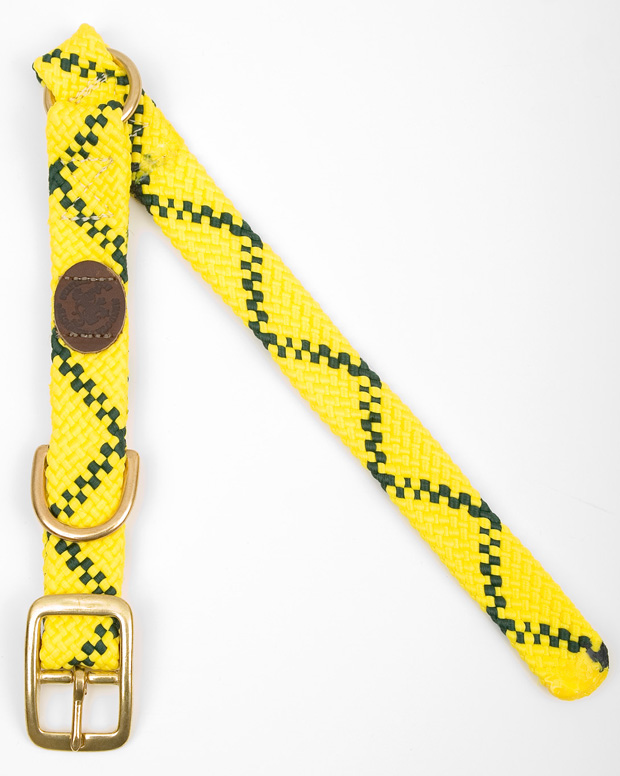 "Mendota Pet Center Ring Collar: Hi Viz Yellow, 1""W Up to 18"""