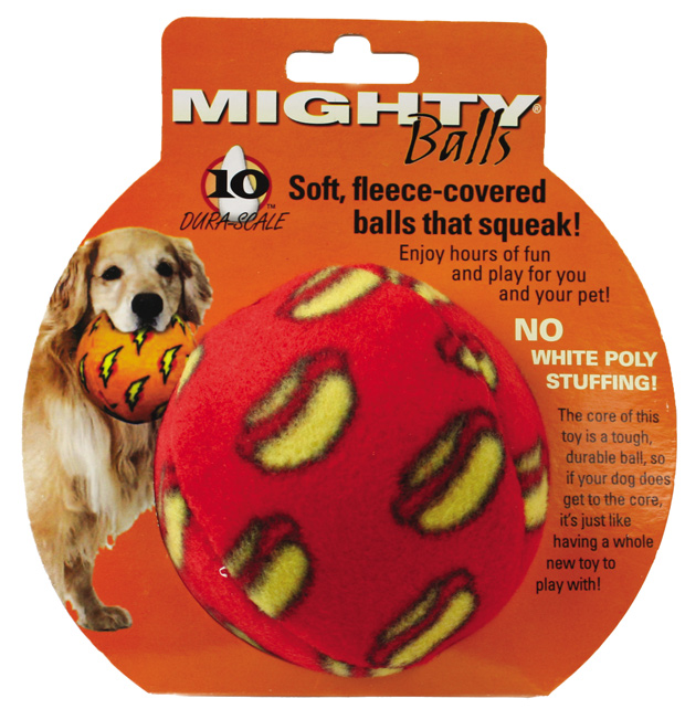Mighty Toy Ball: Red, Medium
