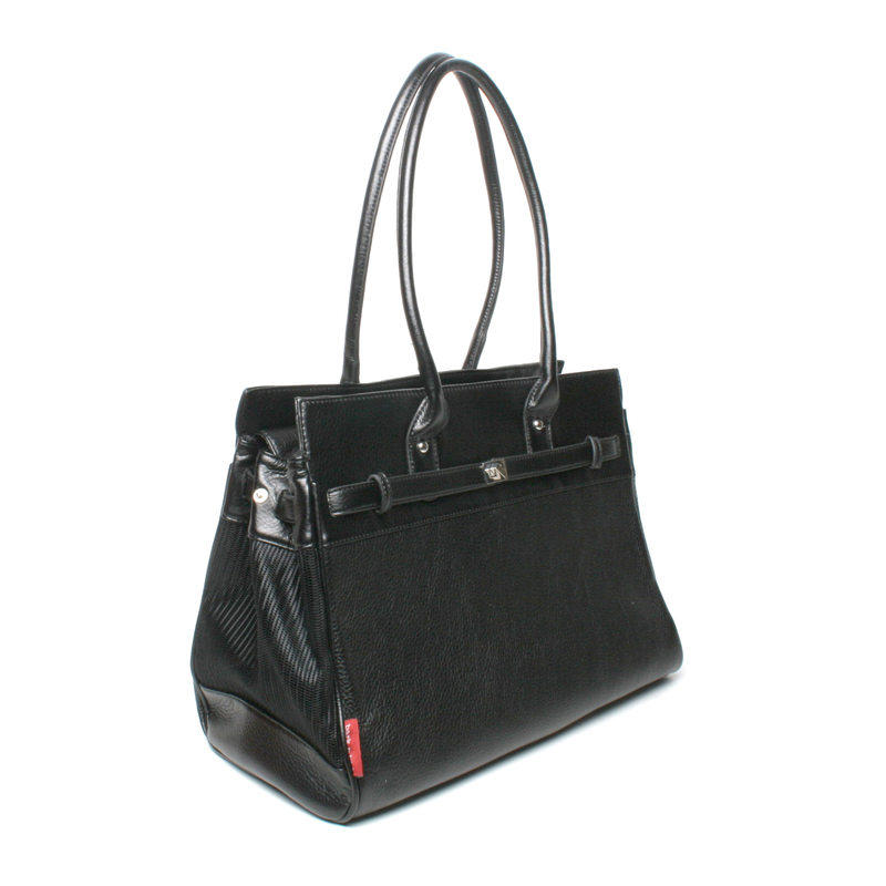 Bark N Bag Pebble Grain Tote: Black