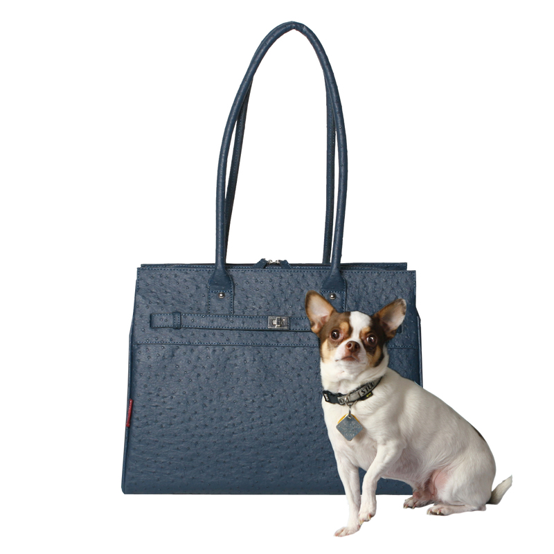 Bark N Bag Exotic Tote: Ostrich, Wedgwood