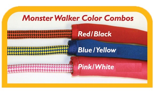 Paws Aboard Monster Walker Dog Leash: Red/Black