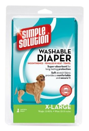 Simple Solution Washable Dog Diaper Medium Teal