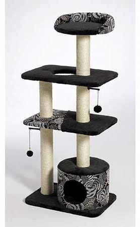 "Midwest Catitude Tower Cat Furniture Black 22"" x 15"" x 50.5"""
