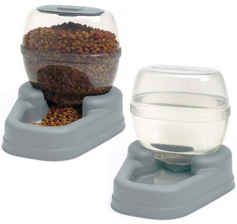 "Bergan Petite Gourmet Combo Pack Pet Feeder and Waterer Blue 13"" x 11.5"" x 11.25"" each"