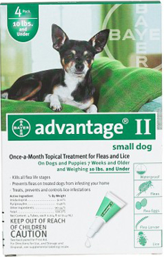 Advantage Flea Control for Dogs and Puppies: Under 10 Pound, 4 Month