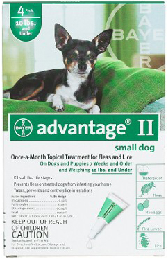 Advantage Flea Control for Dogs and Puppies Under 10 lbs 6 Month Supply