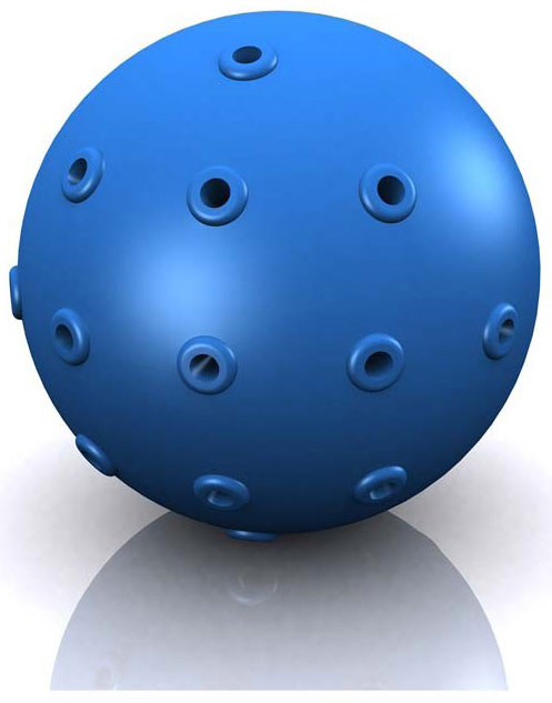 "Hugs Pet Products Hydro Dog Ball Toy Blue 2"" x 2"" x 2"""
