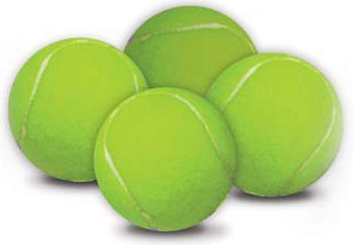 "Hyper Pet Replacement Balls 4 pack Green 2.5"" x 2.5"" x 2.5"""