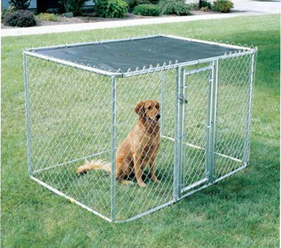 "Midwest Chain Link Portable Dog Kennel Silver 120"" x 72"" x 72"""