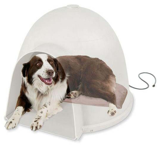 "K&H Pet Products Lectro-Soft Igloo Style Bed Large Beige 17.5"" x 30"" x 1.5"""
