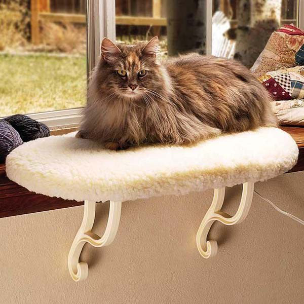 "K&H Pet Products Thermo Kitty Sill: Heated, 14"" x 24"" x 9"""