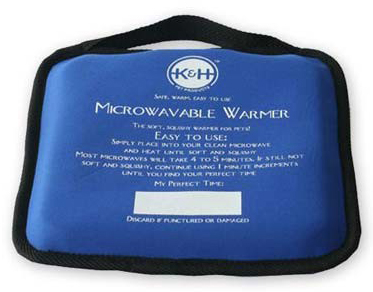 "K&H Pet Products Microwavable Pet Bed Warmer Blue 9"" x 9"" x 2"""