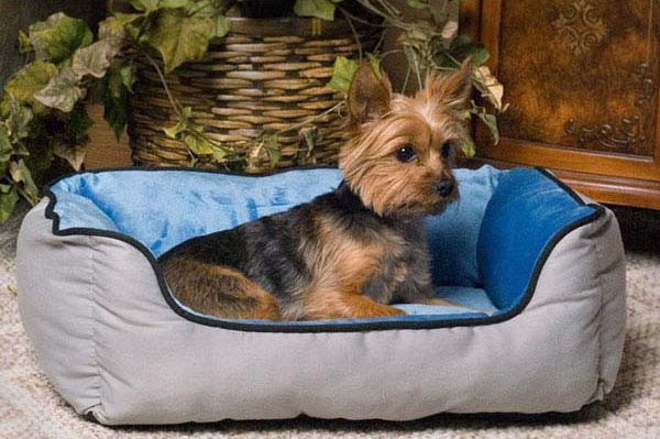 "K&H Pet Products Lounge Sleeper Self-Warming Pet Bed Gray / Blue 16"" x 20"" x 6"""