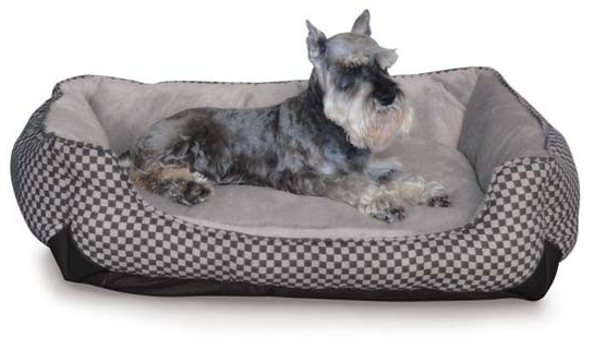"K&H Pet Products Self Warming Lounge Sleeper: Square Medium, Black, 24"" x 30"" x 9"""