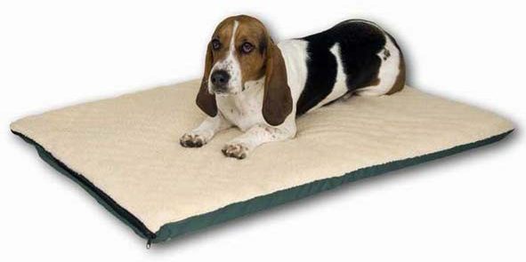 "K&H Pet Products Ortho Thermo Pet Bed Large White / Green 24"" x 37"" x 3"""