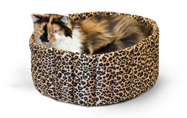 "K&H Pet Products Lazy Cup: Large Leopard, 20"" x 20"" x 7"""
