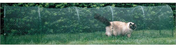 "Kittywalk Lawn Version Outdoor Cat Enclosure Green 120"" x 18"" x 24"""