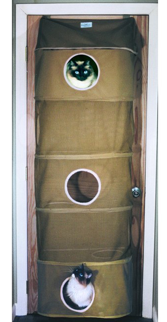 "Kittywalk Cozy Climber Cat House Taupe 13"" x 22"" x 60"""