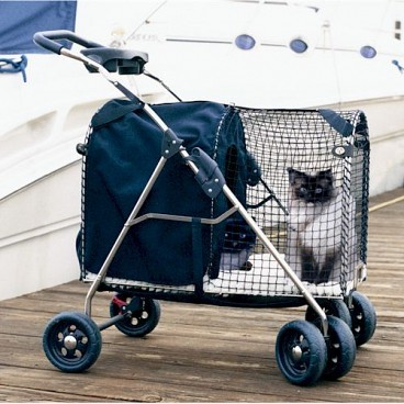 Kittywalk 5th Ave Luxury Pet Stroller SUV: Blue