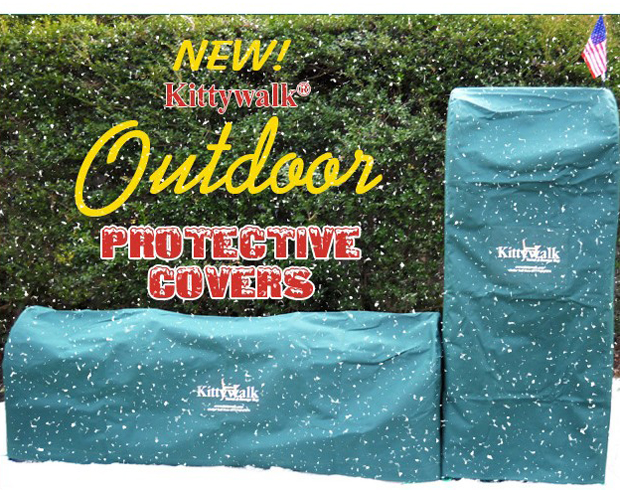 "Kittywalk Outdoor Protective Cover for Kittywalk Town and Country Collection Green 96"" x 18"" x 72"""