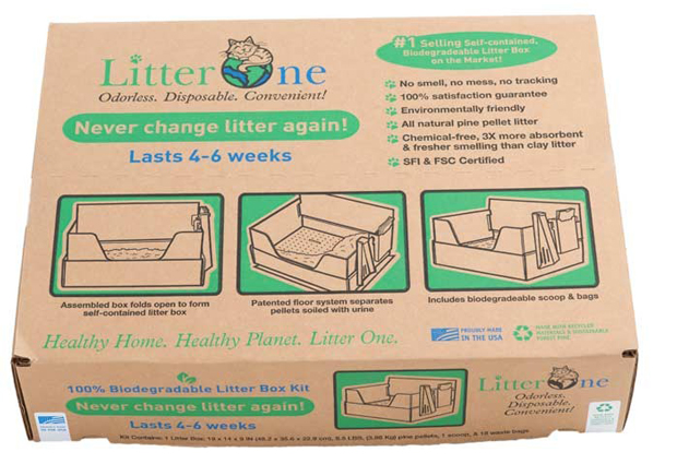 "Litter One Cat Litter Kit Brown 19"" x 14"" x 9"""