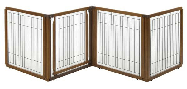 "Richell Convertible Elite Pet Gate 4-Panel Autumn Matte 64.6"" - 68.7"" x 31.7"" - 33.7"" x 31.5"""