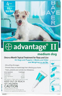 Advantage Flea Control for Dogs and Puppies: 21-55 Pound, 4 Month