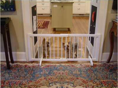 "Cardinal Gates Step Over Free Standing Pet Gate White 28"" - 51.75"" x 2"" x 20"""