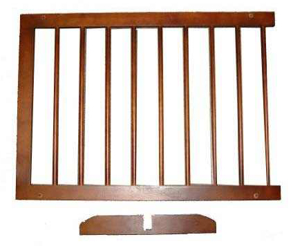 "Cardinal Gates Extension For Step Over Free Standing Gate Walnut 22"" x 2"" x 20"""