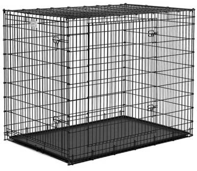 "Midwest Solution Series Ginormous Double Door Dog Crate Black 54"" x 37"" x 45"""