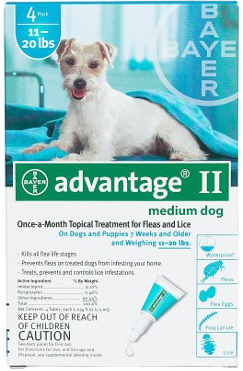 Advantage Flea Control for Dogs And Puppies 11-20 lbs 6 Month Supply