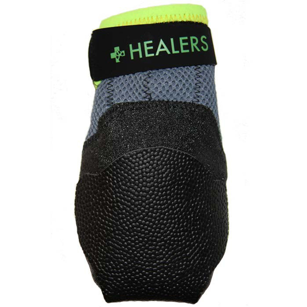 "Bowserwear Urban Walkers Dog Shoes 1 pair Extra Large Silver / Neon Yellow 6"" x 0.5"" x 5"""