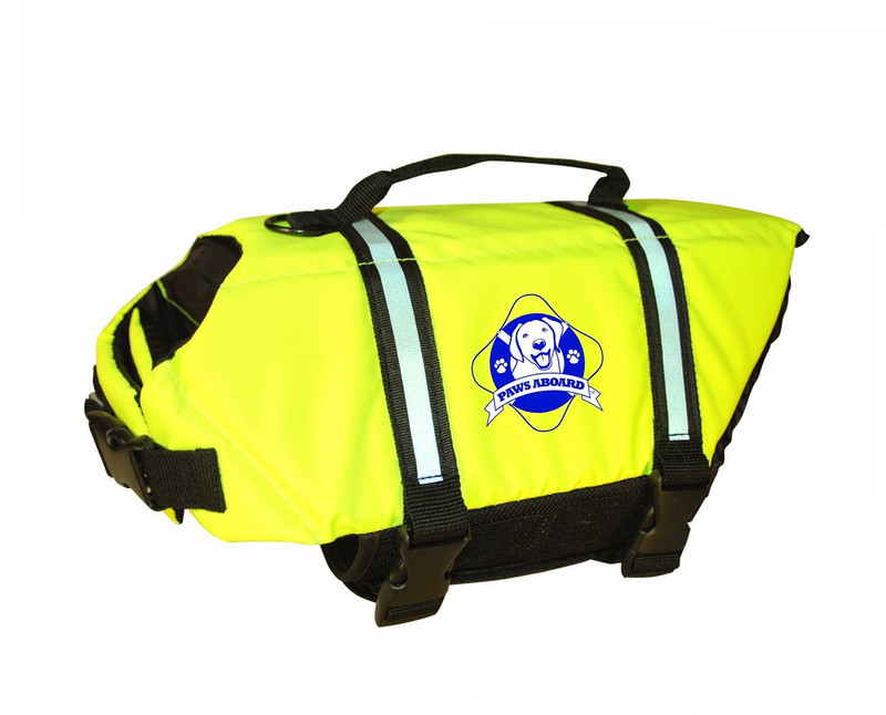 Paws Aboard Safety Dog Life Jacket: Yellow, Medium